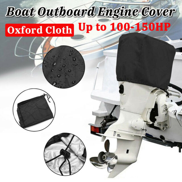 Boat Full Outboard Engine Motor Cover Fits Up to 250HP black