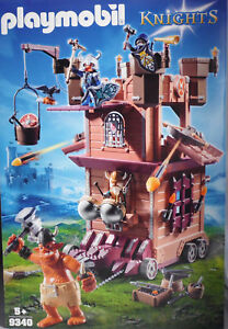 Playmobil 9340 Mobile Forteresse Naine Troll Géant Troll 3 Nains Munitions Nouveau