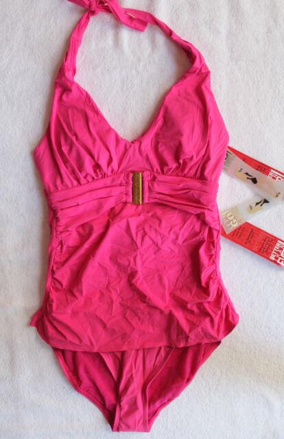 b955031223bf4 NWT SPANX Sexy Paradise Pink Slimming Tankini Halter High Rise Swim Suit 8  $226
