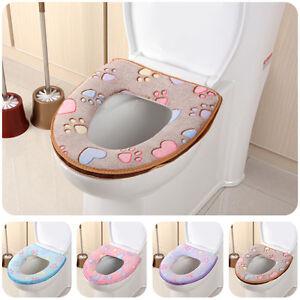 Toilettensitz-Toilettendeckel-WC-Sitz-Toilet-Seat-Bezug-Sitzbezug-Weicher-U1E4
