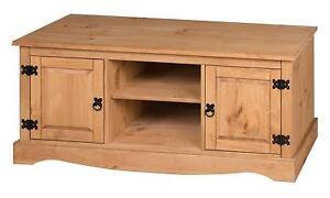 Corona TV Unit 2 Door 1 Shelf Flat Screen TV Media Pine by Mercers Furniture®