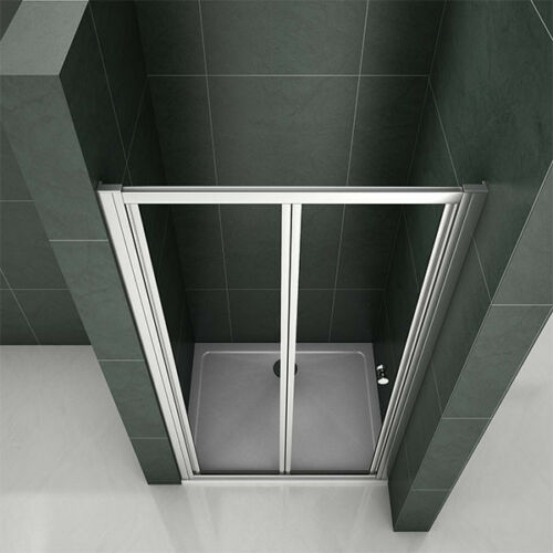 Bathroom Bifold Shower Door s Shower Enclosure Cubicle Room Tempered Clear Glass