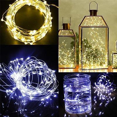 20 LED Draht Lichterkette Warmweiß Innenbereich biegsam inkl.Batterie