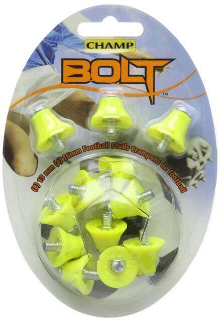 Red Black Orange Blue Champ 1 or 2 Colour Nylon Bolt Football Studs Yellow