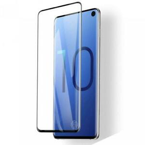 SAMSUNG GALAXY S10 - TEMPERED GLASS SCREEN PROTECTOR CURVED FINGERPRINT UNLOCK