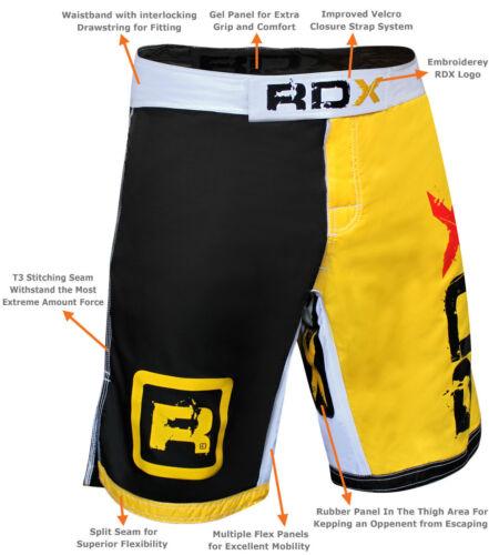 RDX Shorts MMA Grappling Short Kick Boxing Mens Muay Thai Pants Gym Wear US