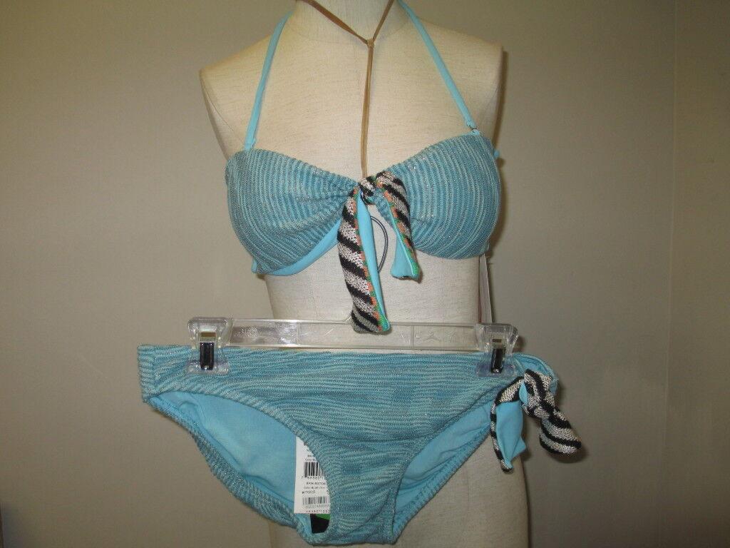 Cecilia Prado Due Bikini Medium bluee NWT