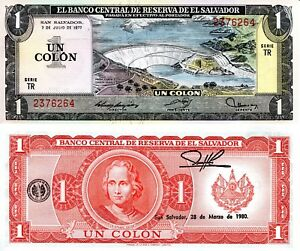 Image Is Loading El Salvador 1 Colon Banknote World Paper Money