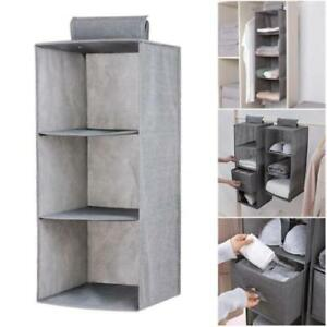 Hot-Clothes-Hanging-Wardrobe-Shelves-Storage-Garment-Tidy-Shoe-Drawer-Organiser