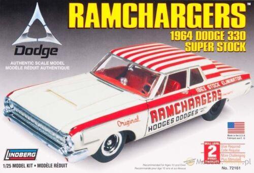 72161 Ramchargers 1964 Dodge 1:25 plastic model KIT - GALAXY RC LINDBERG