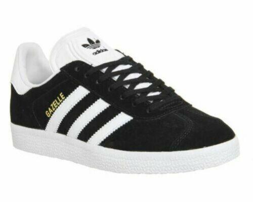 Adidas Hombre Gazelle Clásico con Cordones Zapatillas Retro Calzado Negro