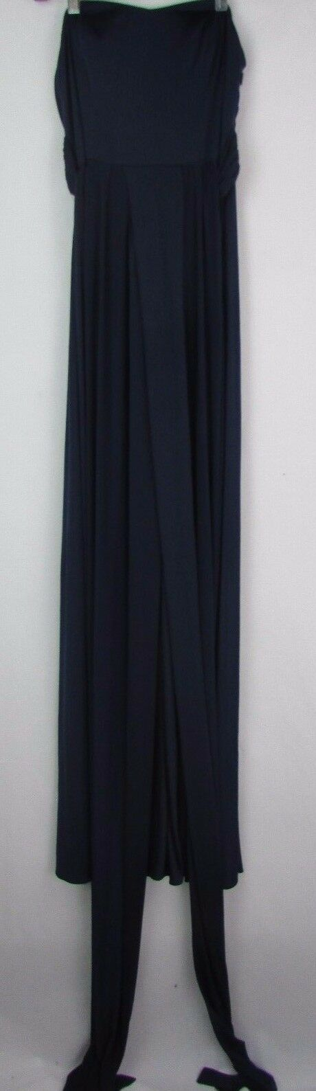 Adrianna Papell New Women's Navy Congreenible Jersey Gown Dress Size 0