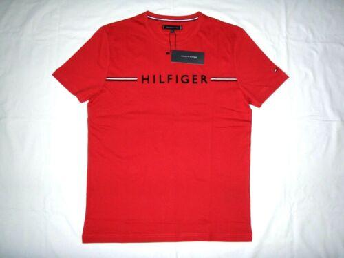 Herrenmode Shirts /& Hemden Tommy Hilfiger Herren T-Shirt Rundhals Rot Gr.L NEU
