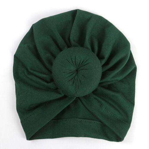Cute Newborn Toddler Kids Baby Boy Girl Indian Turban Knot Cotton Beanie Hat Cap