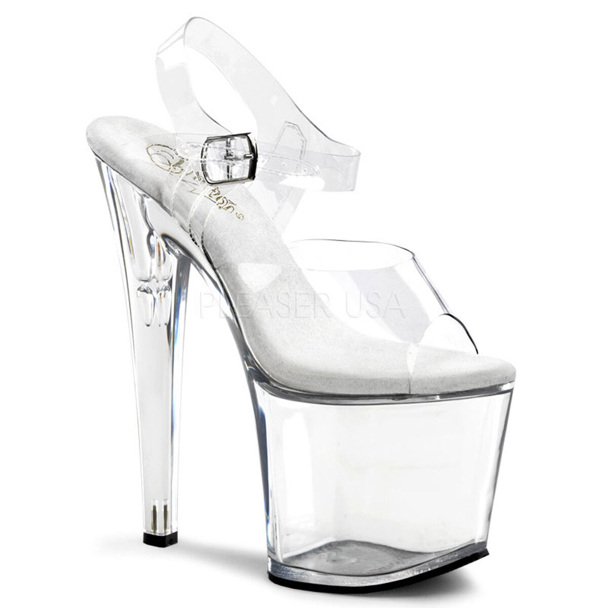 Pleaser TABOO-708 Platforms Exotic Dancing Clear Ankle Ankle Ankle Strap Open Toe High Heels 0a8797