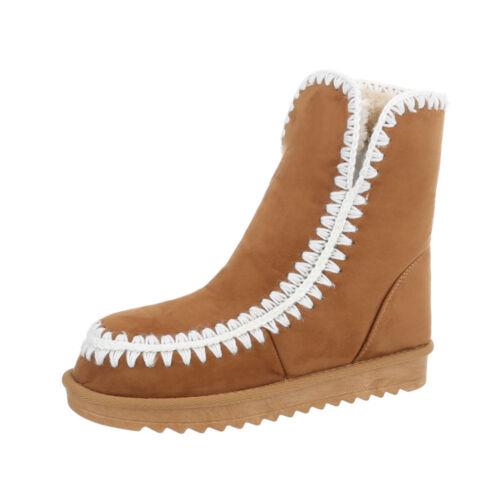 Gefütterte Stiefeletten Snowboots Damenschuhe 2233 Ital-design