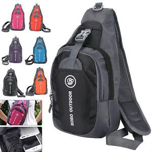 Men Small Chest Bag Pack Travel Sport Shoulder Sling Backpack Cross Body Outdoor