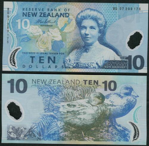 New Zealand 10 Dollars 2007 P186b UNC Polymer