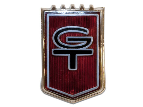 NEW 1965 FORD Mustang Front Fender Emblems GT Cars red Pair both left and right