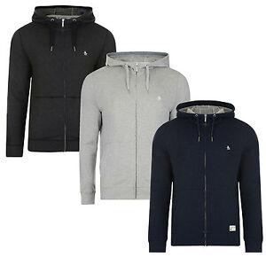 ORIGINAL-PENGUIN-New-Men-s-Loopback-Cotton-Zip-Up-Hooded-Sweatshirt-Top-Hoodie