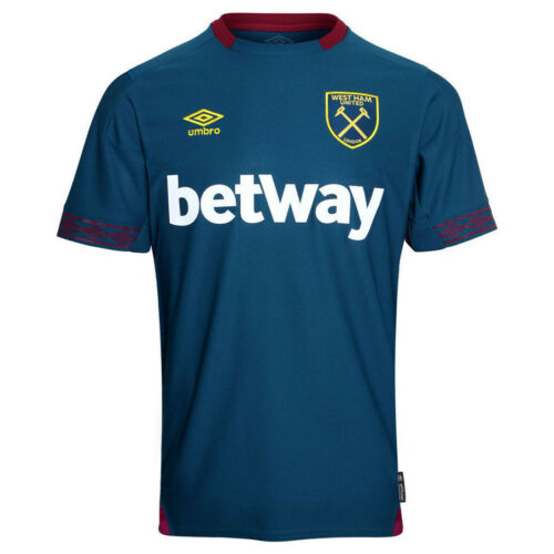 West Ham United Away Shirt Umbro da Uomo BLU FOOTBALL JERSEY 2018 19
