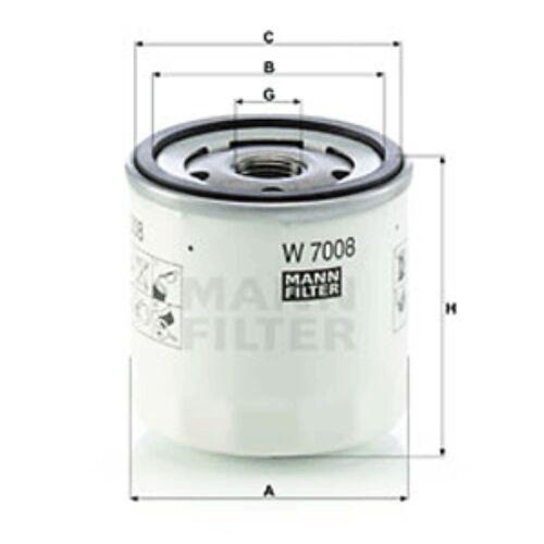 MANN Filtre à huile Spin sur pour FORD B-MAX 1.4 GPL 1.4 1.6 Ti