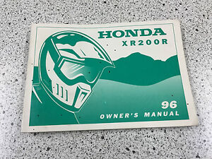 Honda-XR-200R-1996-Owner-039-s-Manual