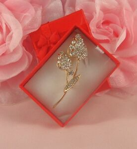 BOXED GOLD  DOUBLE ROSE BUD DIAMANTE RHINESTONE  CRYSTAL BROOCH PIN - <span itemprop='availableAtOrFrom'>NOTTINGHAM, Nottinghamshire, United Kingdom</span> - If you have any problems with your purchase please contact me before leaving feedback. Damaged items will always be replaced or money refunded however please make cont - <span itemprop='availableAtOrFrom'>NOTTINGHAM, Nottinghamshire, United Kingdom</span>