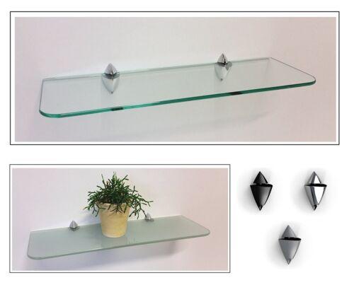 Glasregal satiniert klar 6 Größen abgerundete Ecken //Clip ICEBERG 3 Farben ROY15