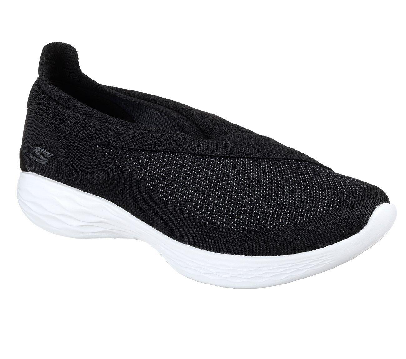 scarpe Grigio Nero Elasticizzato Tessuto in ginnastica da