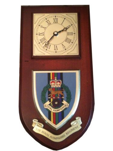 Royal Hampshire Regiment Military Shield Wall Plaque Clock
