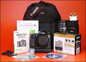 Canon-EOS-70D-DSLR-Camera-18-55-mm-Zoom-Lens-Kit-Sac-Grip-Batterie-amp-Chargeur