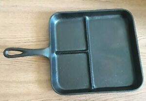 Details about Vintage Lodge #8 BE Cast Iron Bacon & Egg Breakfast Skillet  *RESTORED* *NO SPIN*