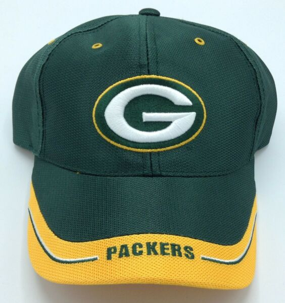 NFL Green Bay Packers Adult Structured Shiny Adjustable Fit Curved Brim Cap  NEW! 035ca827fb9