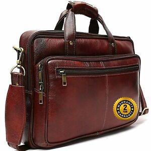 Triant Leather Shoulder Sling Laptop Messenger Bag For Unisex