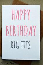 Tarjeta de cumpleaños divertido/Mujer humor grosero/cuerpo///ríe-Big Boobs Gracioso