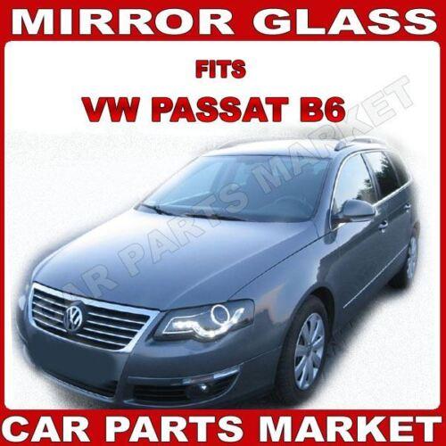plate For Volkswagen Passat 05-10 Left passenger side wing mirror glass