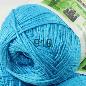 1ball-50g-Soft-Natural-Smooth-Bamboo-Cotton-hand-Knitting-Yarn-919-Turquoise