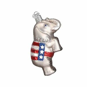 Old World Christmas Ornaments: Republican Elephant Glass ...