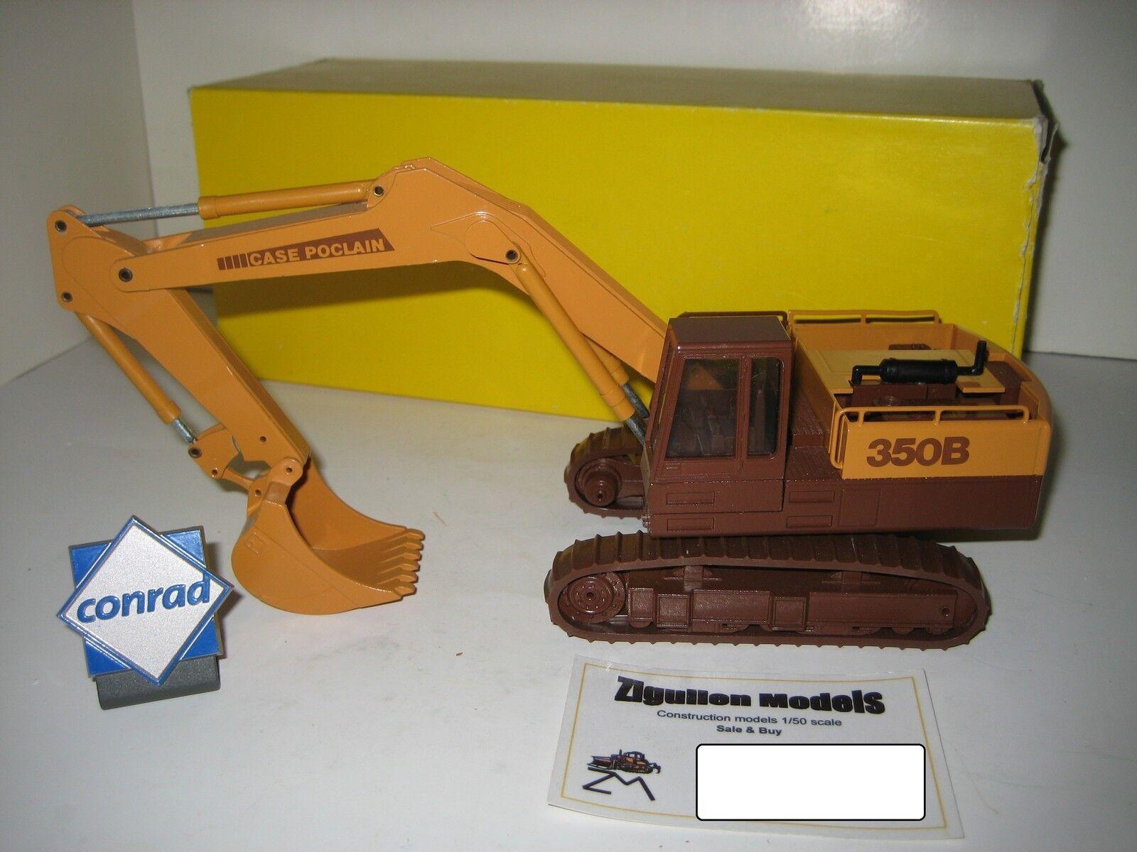 CASE POCLAIN 350 B Excavateurs tieflöffel à chenilles #2891.5 CONRAD 1:50 NEUF dans sa boîte   Stocker