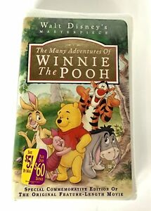 NEW-SEALED-Many-Adventures-Of-WINNIE-THE-POOH-VHS-1996-Disney-Masterpiece