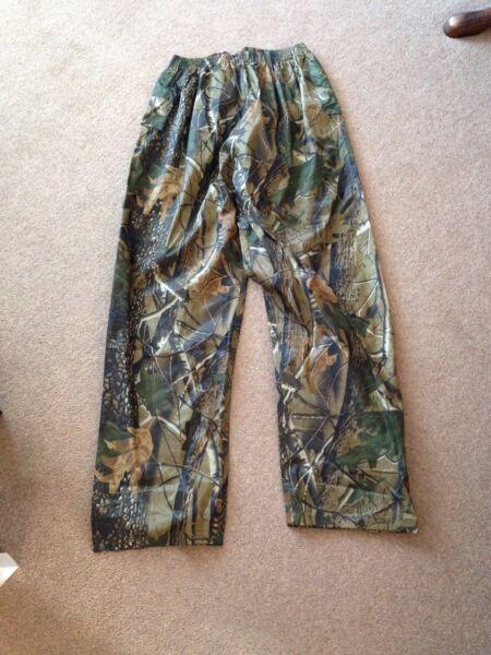 Bello Realtree Impermeabile Pantaloni Mimetico Pesca Shooting Caccia Carpa Vento Med