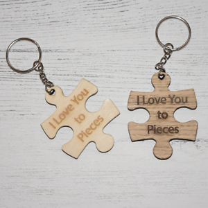 Image is loading Puzzle-Piece-Key-Ring-039-I-Love-You- 395c01577b18