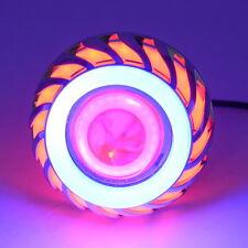 Motorcycle 12V-85V Projector CREE LED Head Light Red Devil Blue Angel Eye Lamp