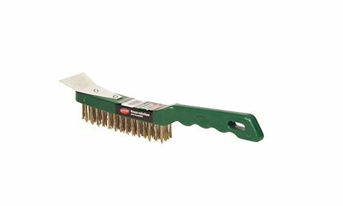 PLASTIC HANDLE WIRE BRUSH WITH SCRAPER- Dynamic- 12 Brushes  64.00