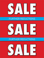 Further Reductions Retail Display Sign, 18w X 24h