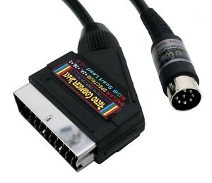 Sinclair-ZX-Spectrum-3-2A-2B-High-Quality-RGB-Scart-Video-Cable-TV-Lead