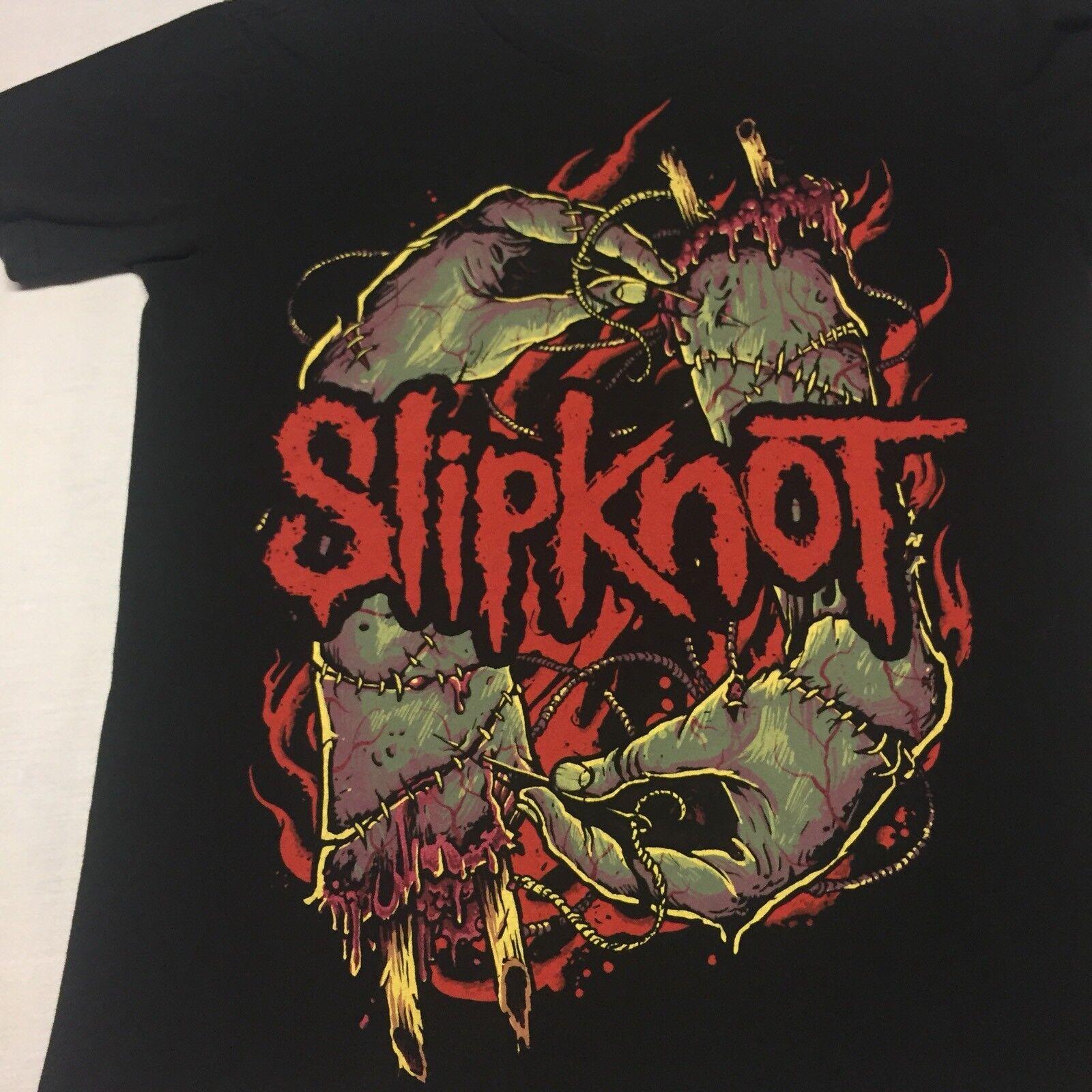 Slipknot Hommes T-shirt noir Groupe De Heavy Metal Rock Tee Shirt