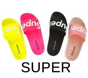 scarpe-estive-colorate-donna-spiaggia-sandali-mare-ciabatte-piscina-LOGO-SUPER