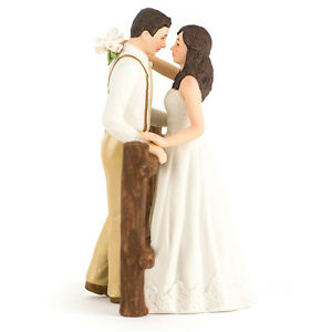 Tortenfigur Brautpaar Rustic Couple Tortendeko Hochzeitstorte
